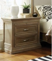 Sonoma 2-Door Nightstand Taupe Gray Product Image