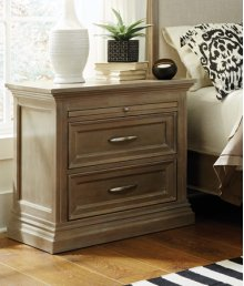 Sonoma 2-Drawer Nightstand Taupe Gray