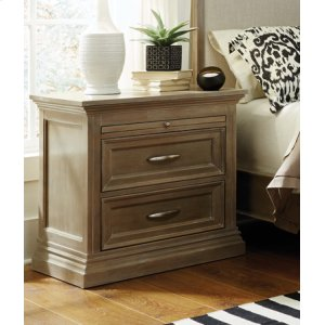 JOHN THOMAS FURNITURESonoma 2-Drawer Nightstand Taupe Gray