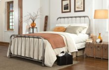 Metal Pewter Queen Bed