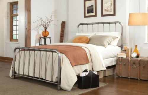 Metal Pewter Twin Bed