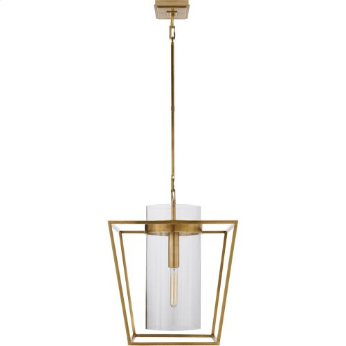 Visual Comfort S5167HAB-CG Ian K. Fowler Presidio 1 Light 18 inch Hand-Rubbed Antique Brass Foyer Lantern Ceiling Light