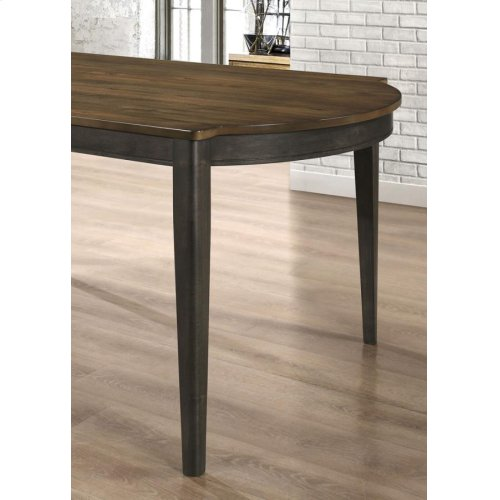 Clarksville Transitional Burned Amber and Rubbed Charcoal Dining Table