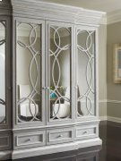 East Hampton Display/Media Cabinet with Mirrored Doors Product Image