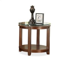 Inspiration Retro Round End Table Warm Brandy finish-Floor Sample-**DISCONTINUED**