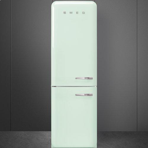 50'S Retro Style refrigerator with automatic freezer, Pastel green, Left hand hinge