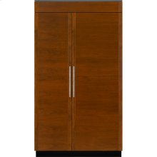 "Integrated Built-In Side-By-Side Refrigerator, 48"", Custom Overlay"