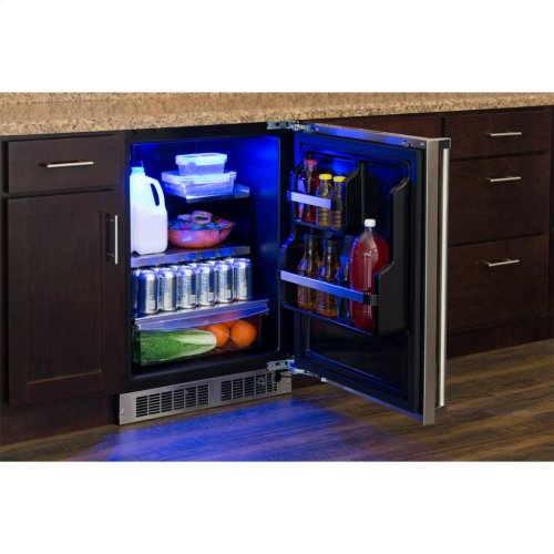 "24"" All Refrigerator with Drawer Storage - Panel-Ready Solid Overlay Door with Lock - Integrated Left Hinge (handle not included)*"