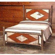425 Diamond Birch Bark Bed