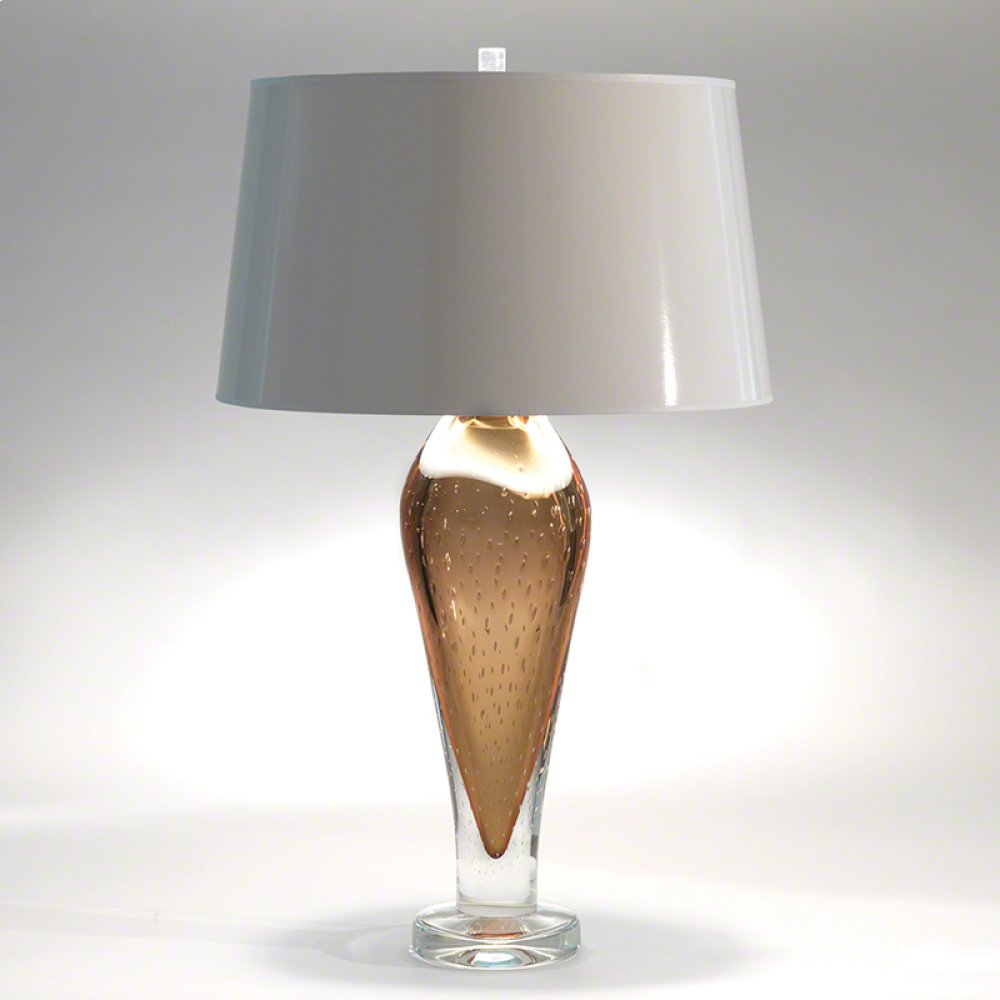 Golden Bubble Art Glass Lamp