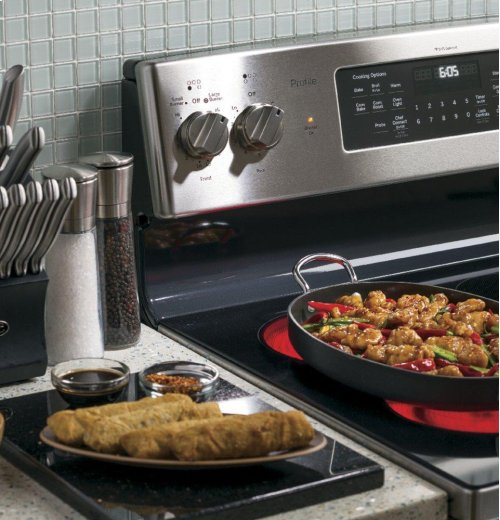 """SCRATCH & DENT- GE Profile™ Series 30"""" Free-Standing Electric Convection Range"""