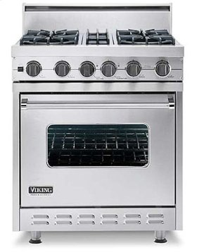 "Graphite Gray 30"" Open Burner, Self-Cleaning Range - VGSC (30"" wide range with four burners, single oven)"