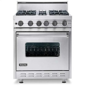 """Metallic Silver 30"""" Open Burner, Self-Cleaning Range - VGSC (30"""" wide range with four burners, single oven)"""