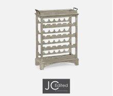 Four-Tier Wine Shelf in Rustic Grey