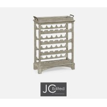 Four-Tier Wine Shelf in Rustic Grey