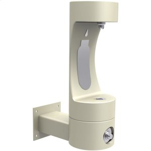 Elkay Outdoor ezH2O Bottle Filling Station Wall Mount, Non-Filtered Non-Refrigerated Freeze Resistant Beige Product Image