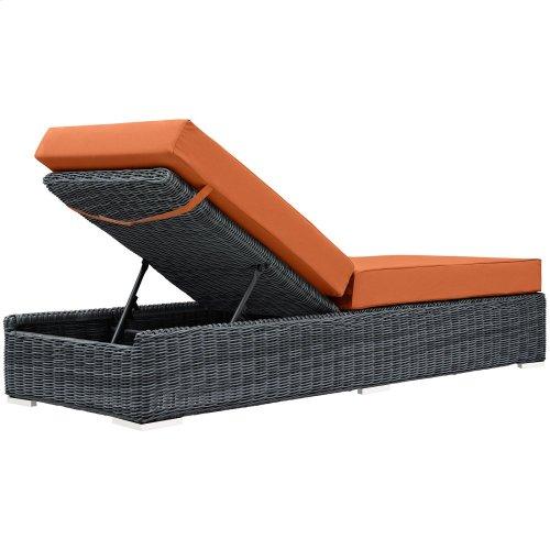 Summon Outdoor Patio Sunbrella® Chaise Lounge in Canvas Tuscan