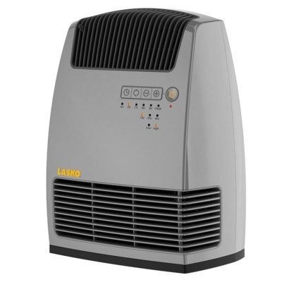Electronic Fan-Forced Heater with Warm Air Motion Technology - Grey