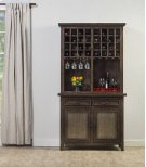 Tuscan Retreat® Hutch With Wine Rack - Mocha Product Image