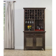 Tuscan Retreat® Hutch With Wine Rack - Mocha