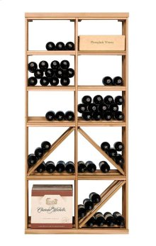 Apex 6' Bottle & Case Diamond Bin Combo Modular Wine Rack - OVERSTOCK