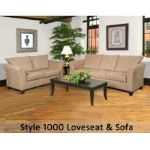 Sienna Chocolate 1000LS - 1000 Loveseat