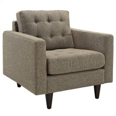 Empress Upholstered Fabric Armchair in Oatmeal Product Image