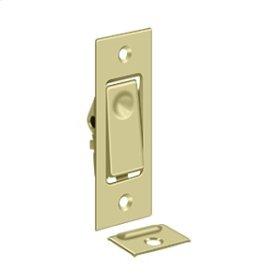 Pocket Door Bolts, Jamb bolt - Unlacquered Brass