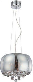 Ceiling Lamp, Smoke Mirrored Glass/crystal, Jc/g4 20wx8 Product Image