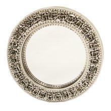 Round Tin Mirror w/Roses