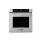 """Heritage 27"""" Single Wall Oven in Stainless Steel - ships with Epicure Style stainless steel handle with chrome end caps. Product Image"""