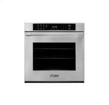 """Heritage 27"""" Single Wall Oven in Black Glass - ships with Epicure Style black handle."""