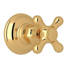 Italian Brass Verona Trim For Volume Control And 4-Port Dedicated Diverter with Verona Series Only Cross Handle