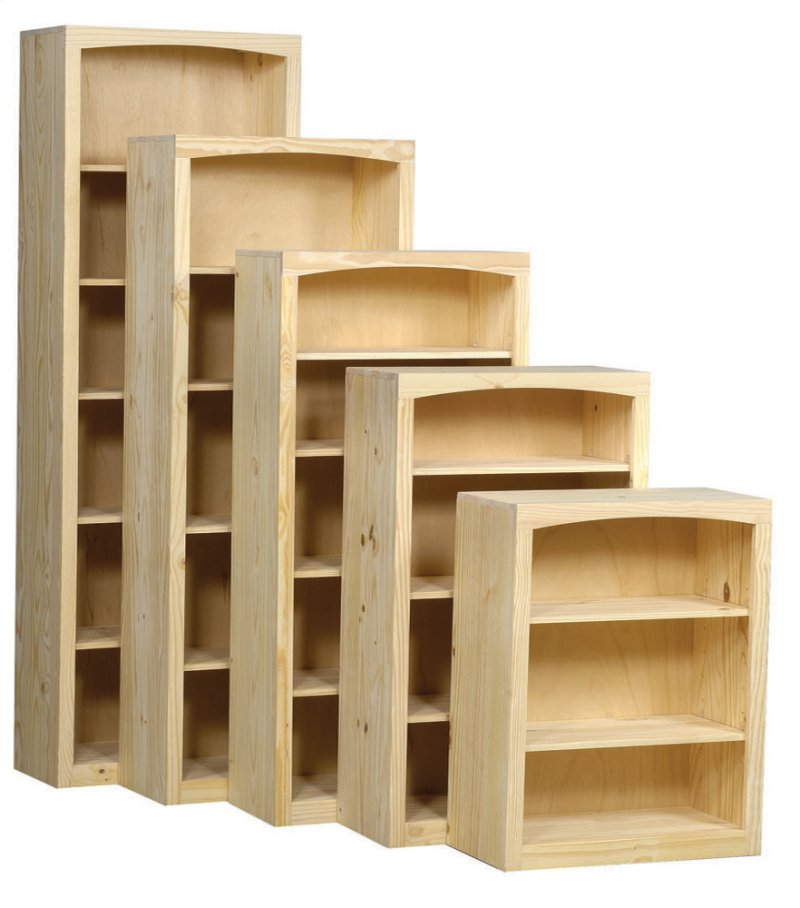 Pine 30 Inch Bookcase Hidden