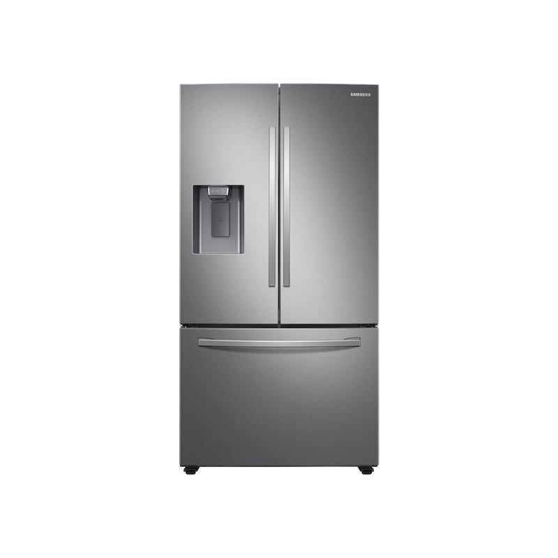 27 cu. ft. Large Capacity 3-Door French Door Refrigerator with External Water & Ice Dispenser in Stainless Steel