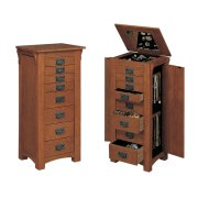 """Mission Oak"" Jewelry Armoire Product Image"