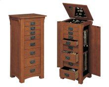 """Mission Oak"" Jewelry Armoire"