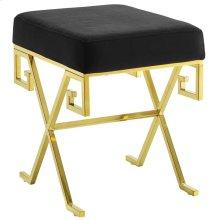 Twist Velvet Bench in Gold Black