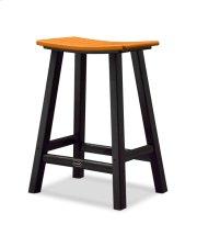 "Black & Tangerine Contempo 24"" Saddle Product Image"