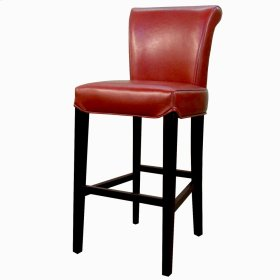 Bentley Leather Counter Stool, Red
