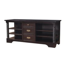 TV Console with Barley Twist