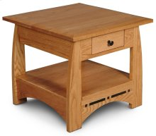 "Aspen 1-Drawer End Table with Inlay, 24""x26"""