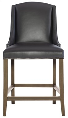 Slope Leather Bar Stool in Smoke