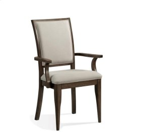 Joelle Upholstered Arm Chair Carbon Gray finish