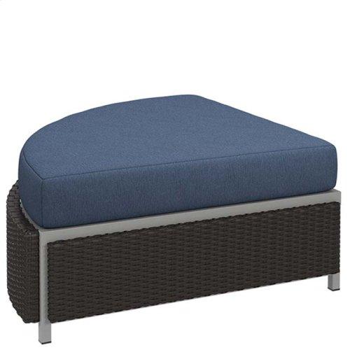 "Cabana Club Cushion Curved Ottoman (17"" Seat Height)"