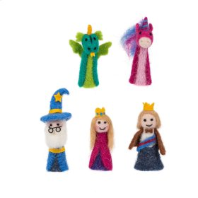 15 pc. ppk. Woolen Fairytale Finger Puppets