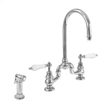 Sancerre Bridge Kitchen Faucet with Sidespray and 485 Handle