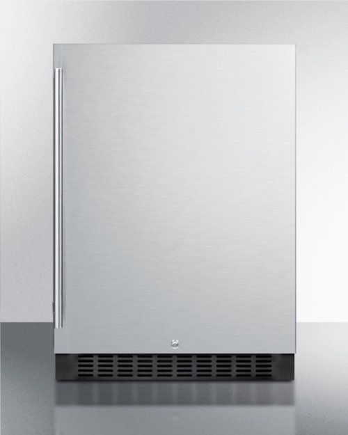 Outdoor All-refrigerator for Built-in Use, With Lock, Digital Thermostat, and Stainless Steel Wrapped Exterior