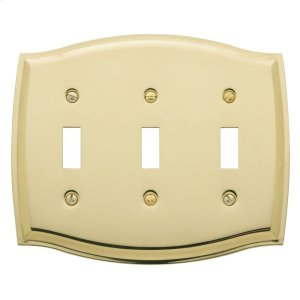 Polished Brass Colonial Triple Toggle Product Image