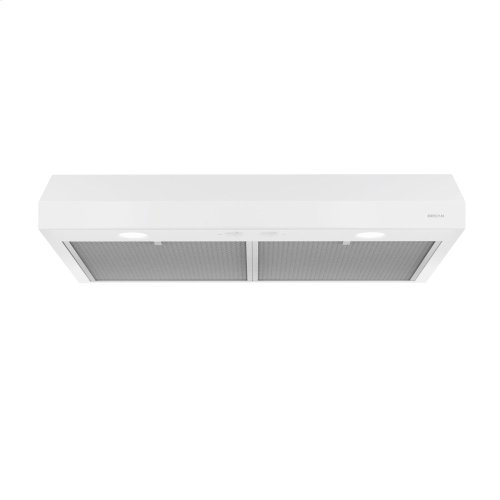 Glacier 24-Inch 250 CFM White Range Hood with light